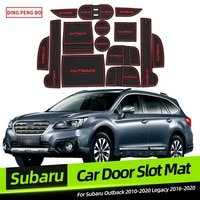 anti slip gate slot cup mat for subaru outback 2015 2020 interior non slip mat car accessories door pad car styling stickers