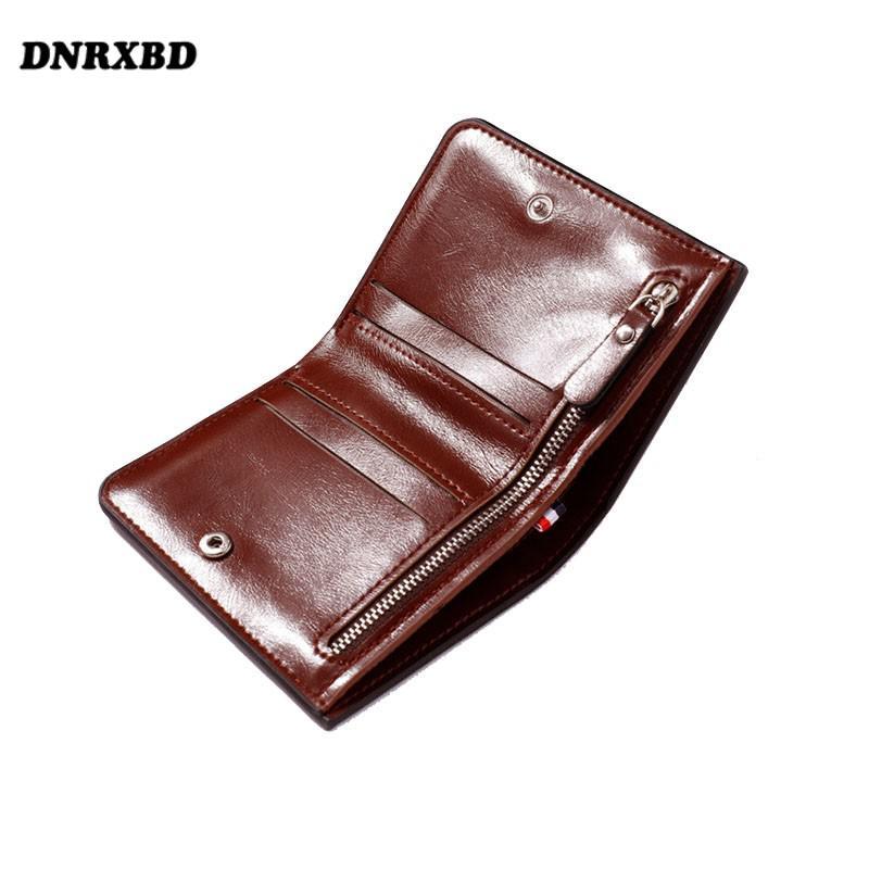Мужские кожаные кошельки на молнии, мужской кошелек на застежке, держатели для визиток, винтажные кошельки, высококачественный карман для м...