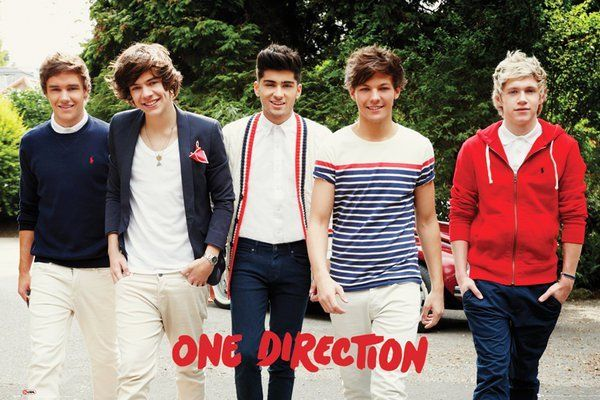 One Direction Walking  HARRY LOUIS LIAM NIALL ZAYN Silk Poster Wall Sticker Decoration Gift