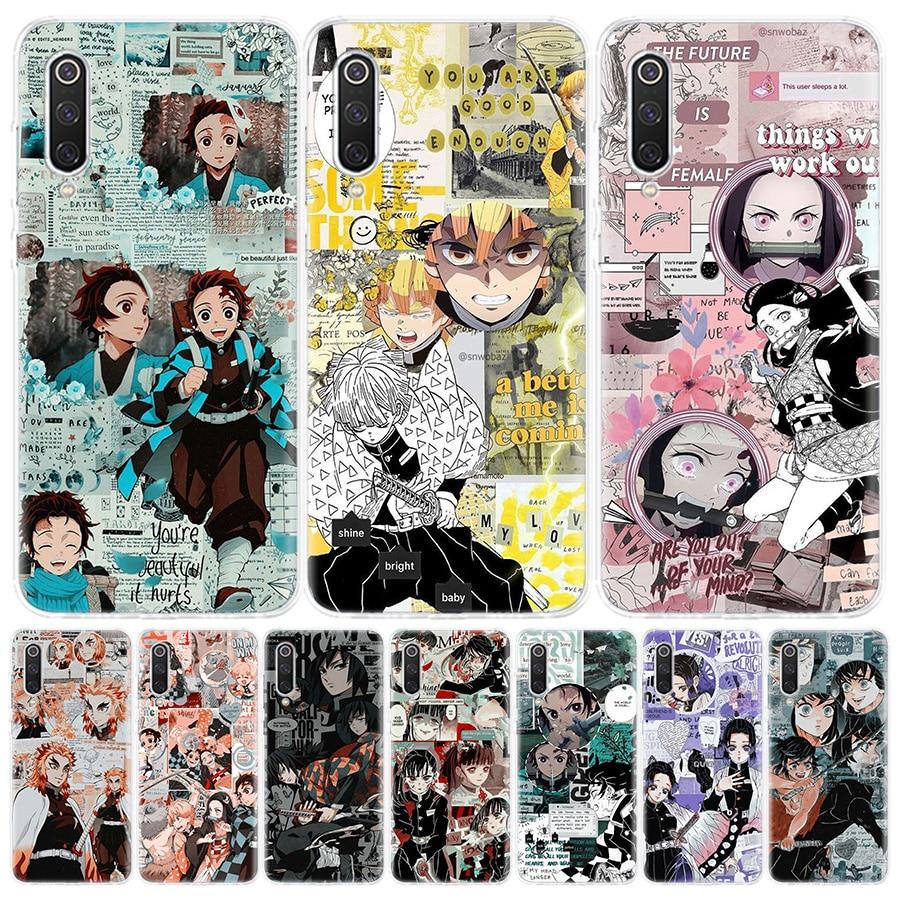 Kimetsu No Yaiba Demon Slayer Anime Phone Case for Xiaomi Redmi Note 9 8 7 8A 7 7A 6A S2 9A 8T 9S 10
