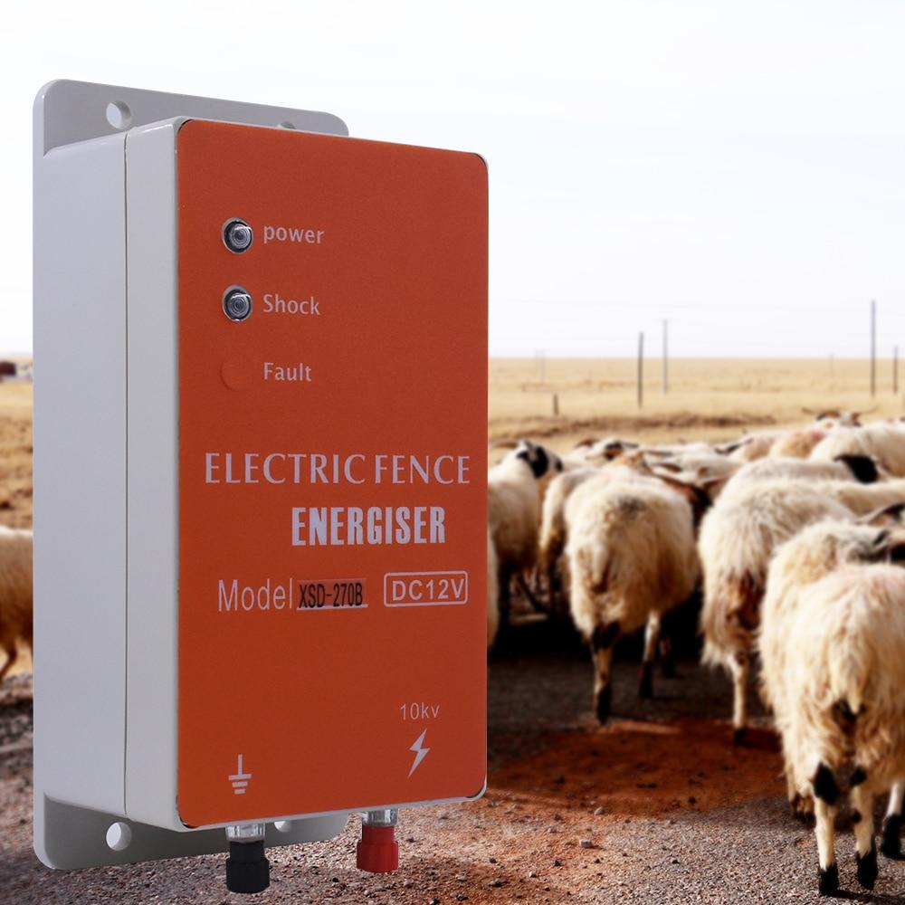 الطاقة الشمسية الكهربائية سياج إنرجايزر شاحن عالية الجهد نبض تحكم الحيوان الدواجن مزرعة الكهربائية المبارزة الراعي 10 كجم فورهورس