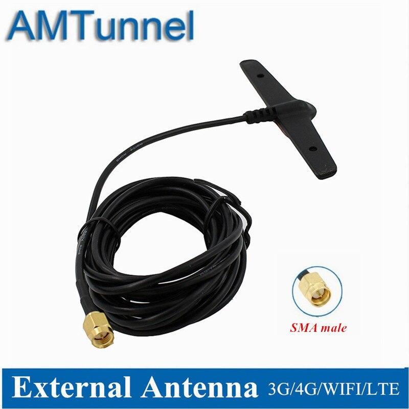 Антенна 4G LTE Антенна 5dBi 2,4 ГГц WiFi антенна SMA male 3M B315 наружная антенна для Huawei B525 B310 B593 ZTE routers