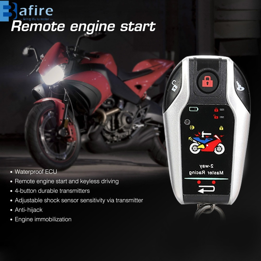 Bafire Universal Two Way Motorcycle Alarm System Suitable For Any 12V Motorbike For Honda/Suzuki/Kawasaki/Yamaha Motorcycles