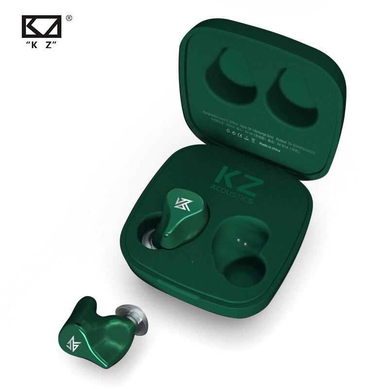 Auriculares KZ Z1 TWS inalámbricos Bluetooth V5.0, auriculares dinámicos magnéticos duales, Control táctil, cancelación de ruido, Auriculares deportivos