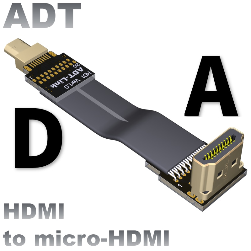 FPV HDMI-compatible Cable Mini-HDMI Micro-HDMI Shielded FPC Flat Extension Cables 3CM To 2M for Multicopter Aerial Photography