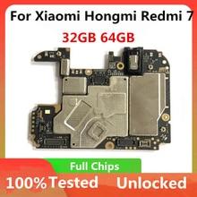 32gb 64gb für Xiaomi Hongmi Redmi 7 Motherboard original Für HongMi 7 RedMi 7 Entsperrt Mainboard Logic Board mit voll chips