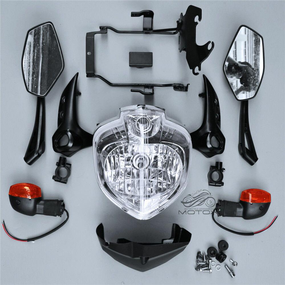 Conjunto de soporte para faros delanteros, cubierta para espejo velocímetro compatible con FZ 6N FZ6N FZ-6N 2007-2010 2008 2009