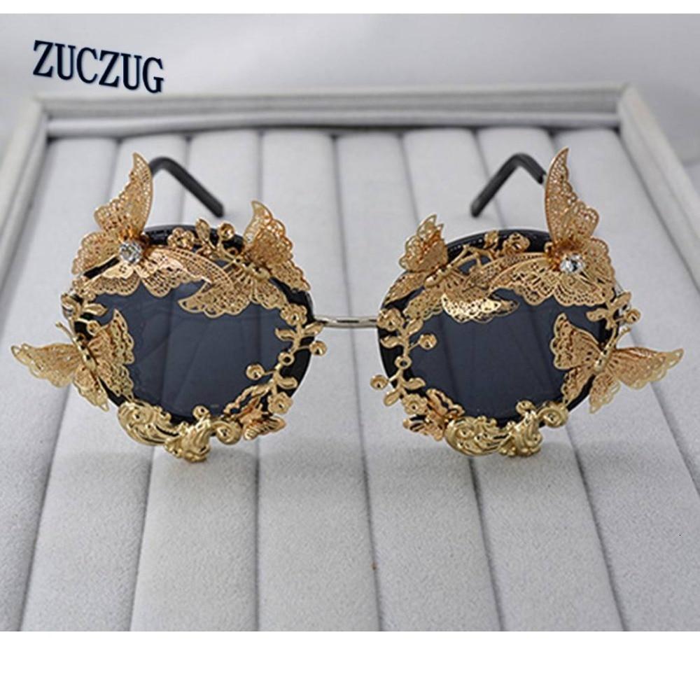 Женские солнцезащитные очки в стиле барокко, роскошные винтажные Брендовые очки с металлическими цветами, уличные повседневные модные акс...
