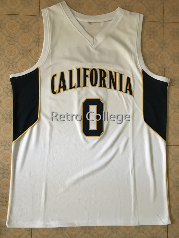 #0 Jaylen Brown California College Retro Throwback Basketball Jersey Stitched any Number and name