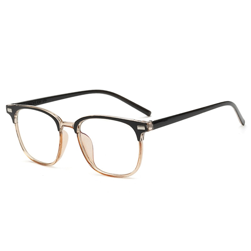 new midine eyebrow false half frame eye protection blue light proof eyeglass frame net red men's and