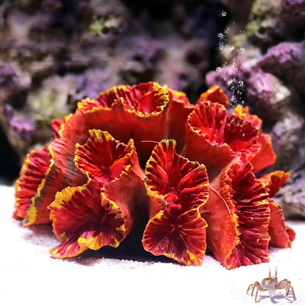 Цветной Резиновый аквариумный искусственный Коралл Коралловый Риф Украшения аквариума коралловый камень пейзаж орнамент инструмент аквариум орнамент