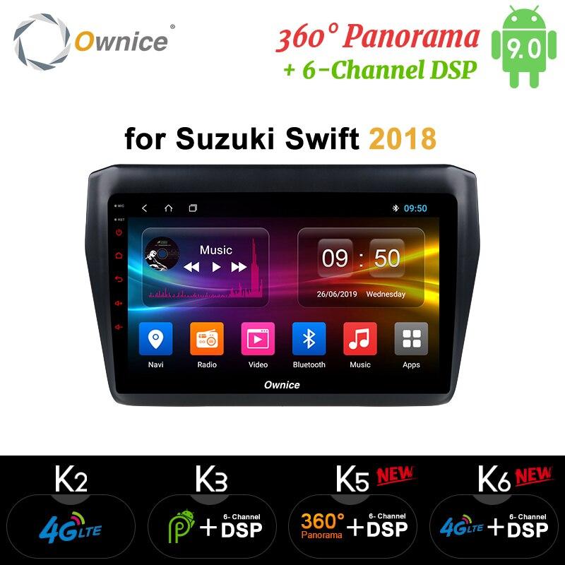 Ownice Android 9.0 Car dvd For Suzuki Swift 2018 Stereo GPS Navi Car Radio 2 Din k3 k5 k6 Audio video player 4G LTE DSP SPDIF