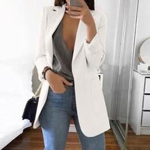 New Women Casual Long Sleeve Coat Suit Office Ladies Slim Cardigan Tops Blazer Jacket Outwear Women Clothing Oversize 5XL