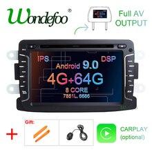 DSP IPS 4GB 64G Android 9.0 GPS Per auto multimediale Per Dacia Sandero Spolverino Captur Lada Xray 2 Logan 2 Dokker Lodgy 2012-2017