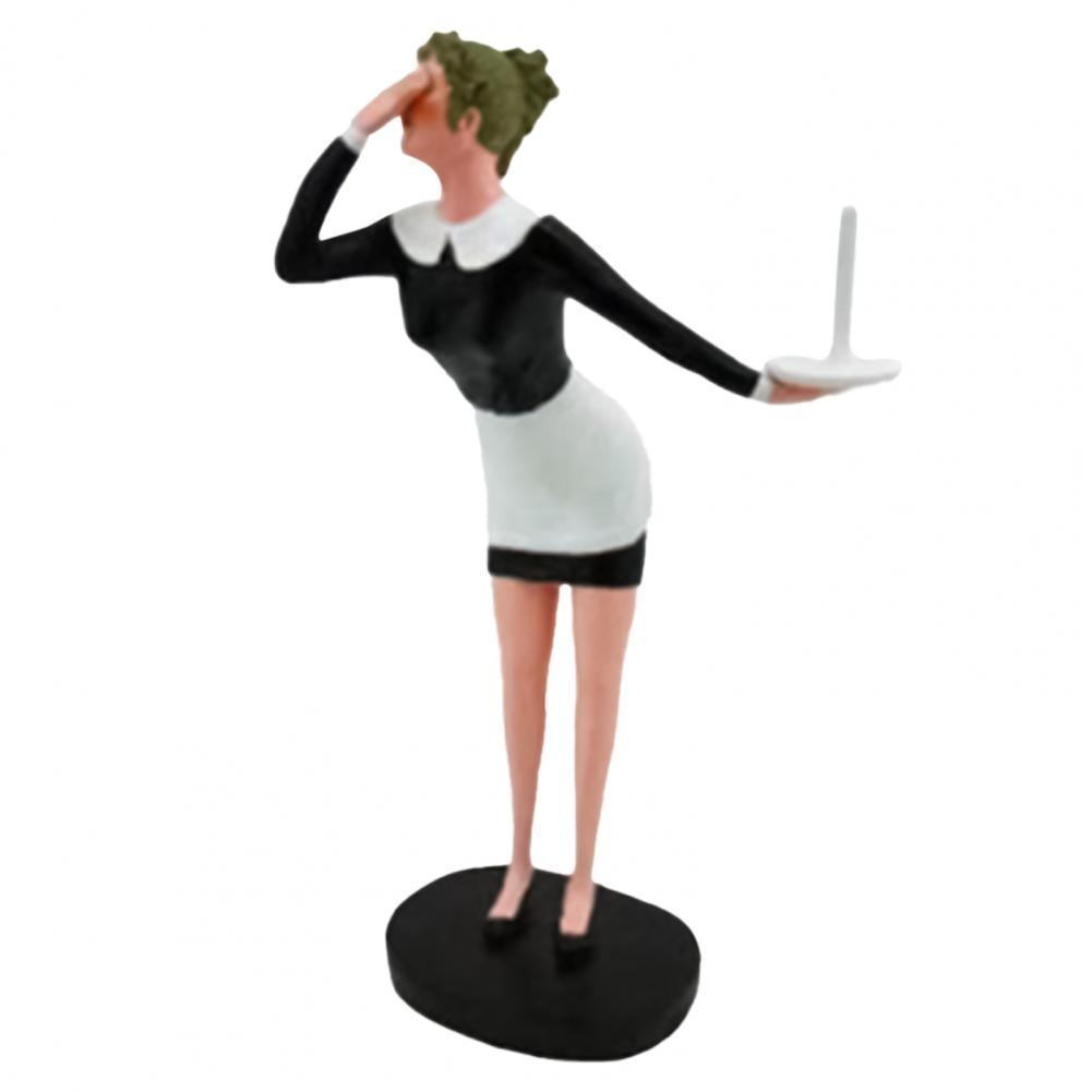 Resin Roll Paper Holder Paper Holder Decorative Funny Cute Old Granny Toilet Butler Statue Portable Toilet Paper Holders 2021