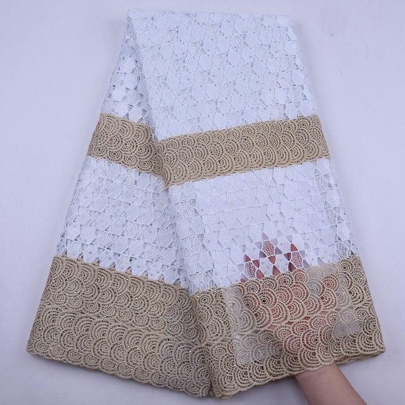 Recién llegado, tela de encaje de cordón de guipur africano, 2020, tela de encaje de seda de leche Soluble en agua de alta calidad para vestido de novia nigeriano
