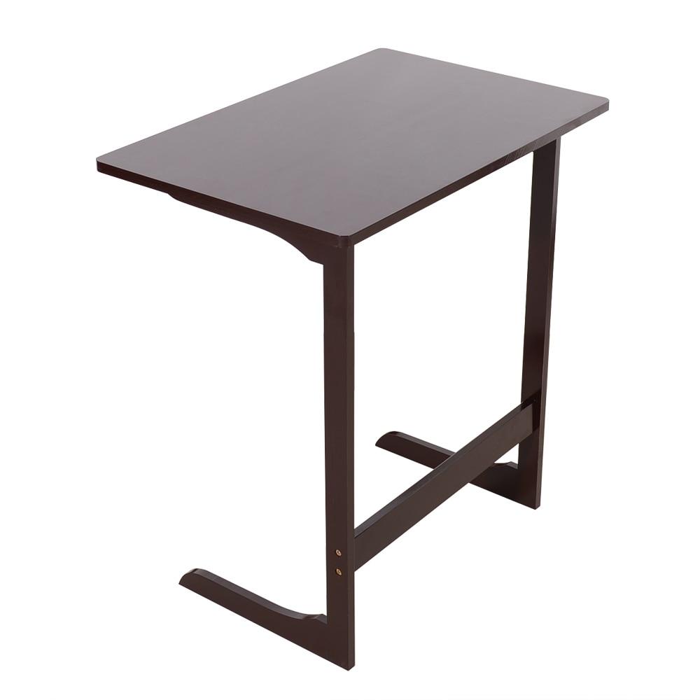 Sofá de bambú en forma de L de 60x40x65cm, mesa de portátil, mesa de estudio, mesa de café