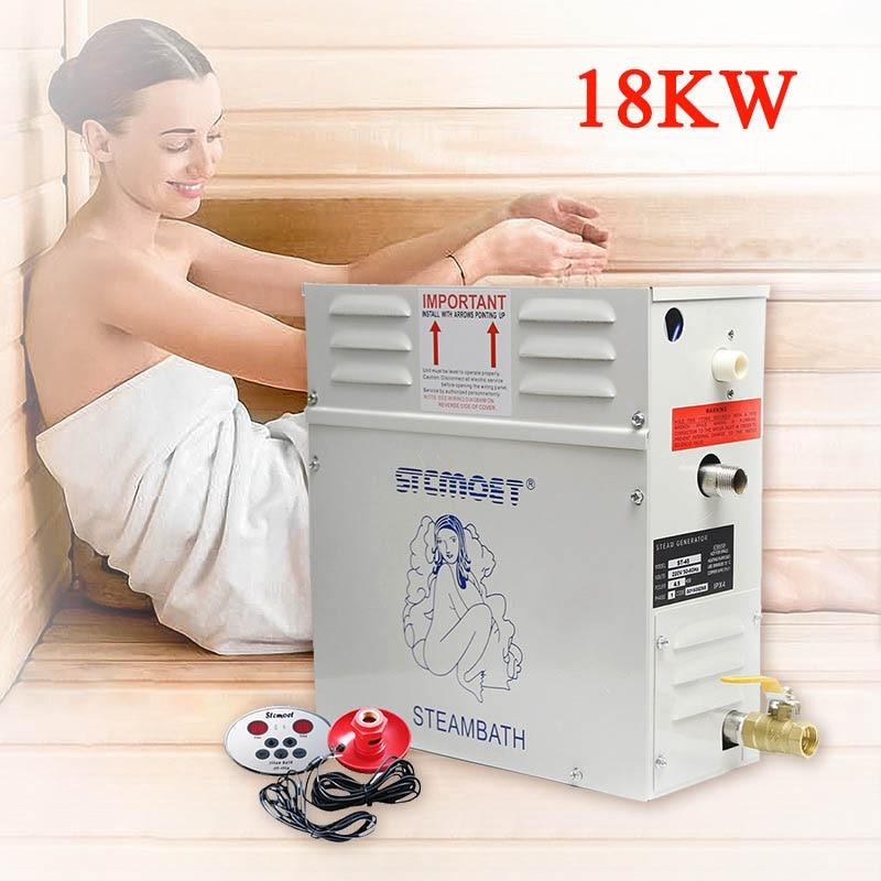 مولد بخار ساونا 15 كيلو وات/18 كيلو وات ، حمام سبا للمنزل أو التجارة ، مفيد لفقدان الوزن ، آلة تبخير مبللة ، 380 فولت 220 فولت