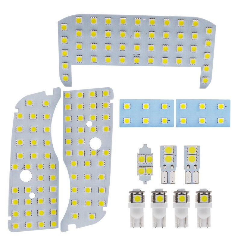 Safego T10 SMD 5050 Car LED Interior Light Set of 12pcs Car Lamp for Prius  ZVW30 ZVW40 ZVW41 Series No Sunroof White 6000K
