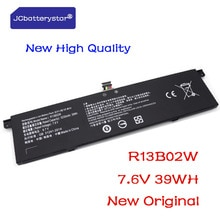 JCbatterystar  New Original 7.6V 5230mAh R13B01W R13B02W Laptop Battery For Xiaomi Mi Air 13.3