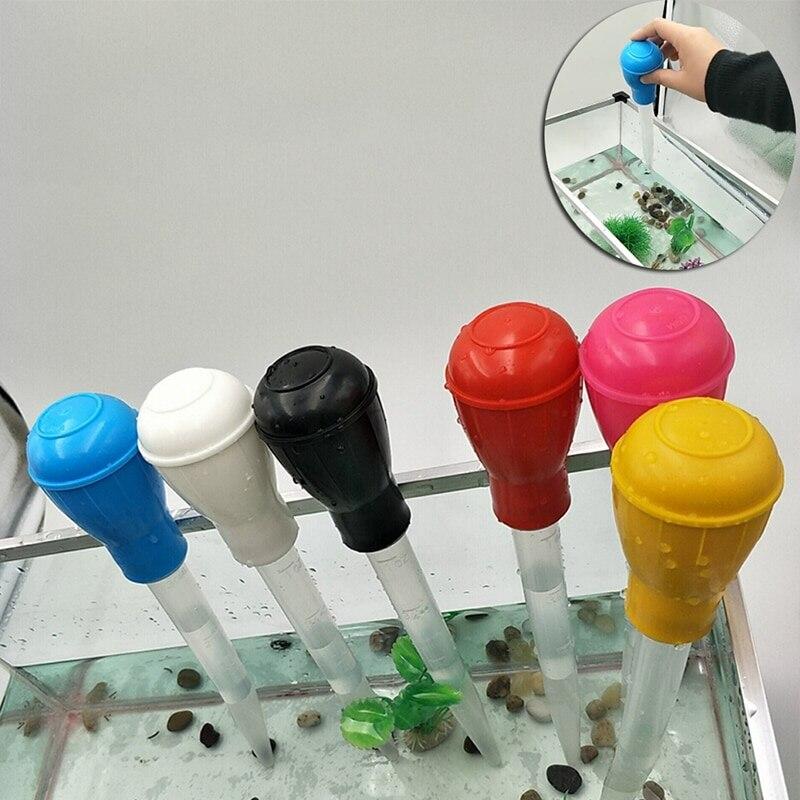 6 couleurs Aquarium nettoyeur gravier aspirateur réservoir de poisson Siphon pompe pour changer leau de haute qualité