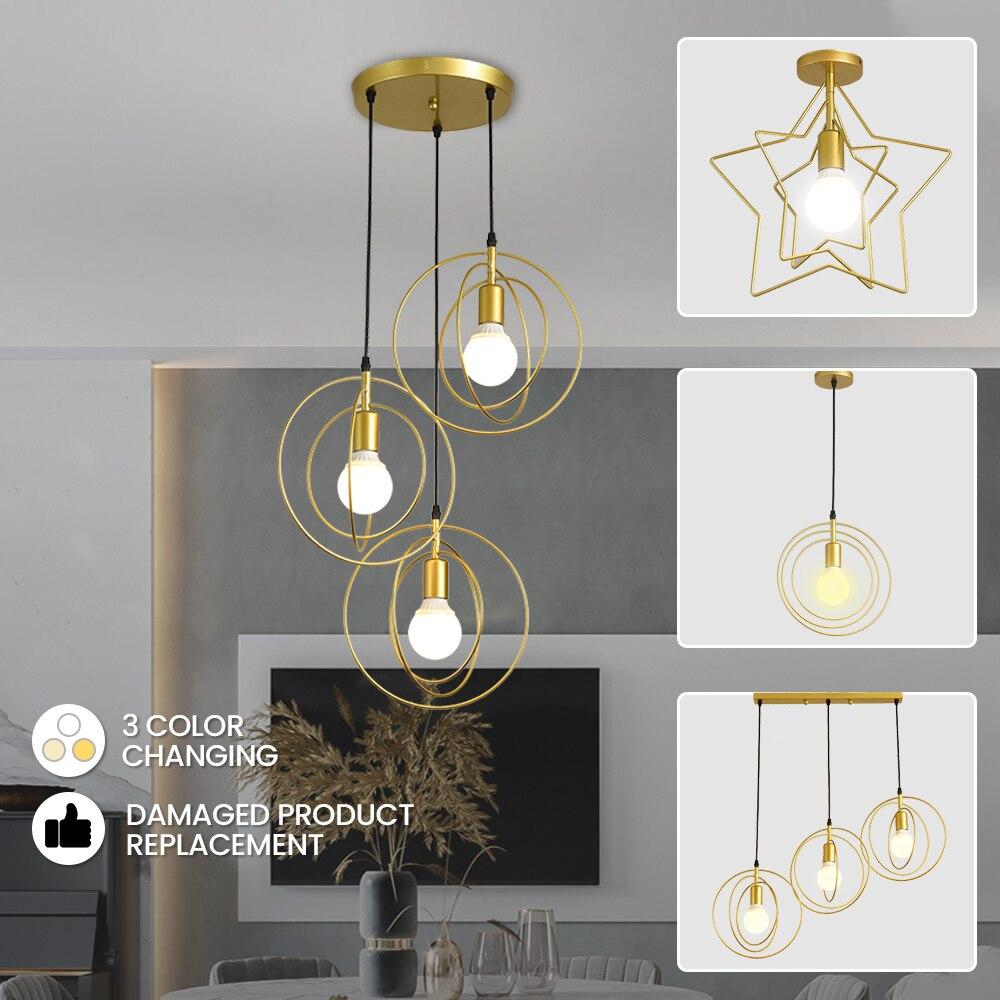 Luces Led colgantes modernas para sala De estar, lámpara colgante De CA...