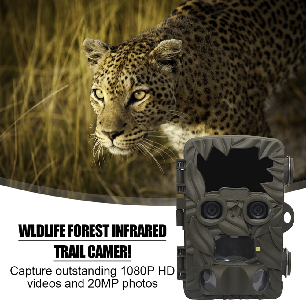 H8201 Trail Camera Dual-Lens 4K 20MP 170 Degree Wide Angle Night Vision Motion Activated Waterproof Wildlife Camera