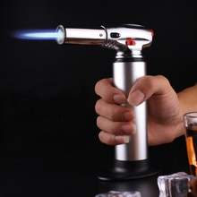 Kitchen Outdoor Baking BBQ Lighter Spray Gun Torch Pipe Gas Jet Windproof Camping Lighters Turbo But