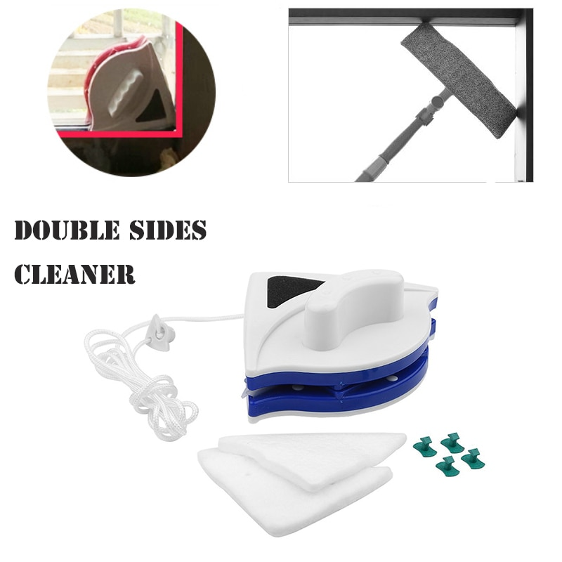 De doble cara ventana magnética limpiador de vidrio casa mago superficie utensilios cepillo de limpieza limpiador de ventanas con listones limpiador