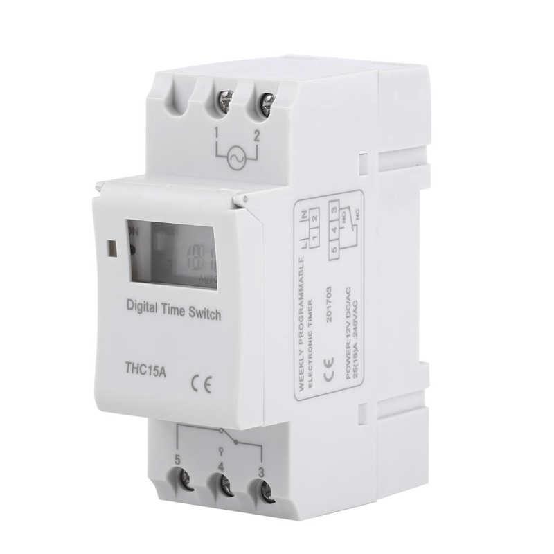 Temporizador electrónico programable semanal, interruptor de tiempo, 16on, 8off, Temporizador Digital, 1...