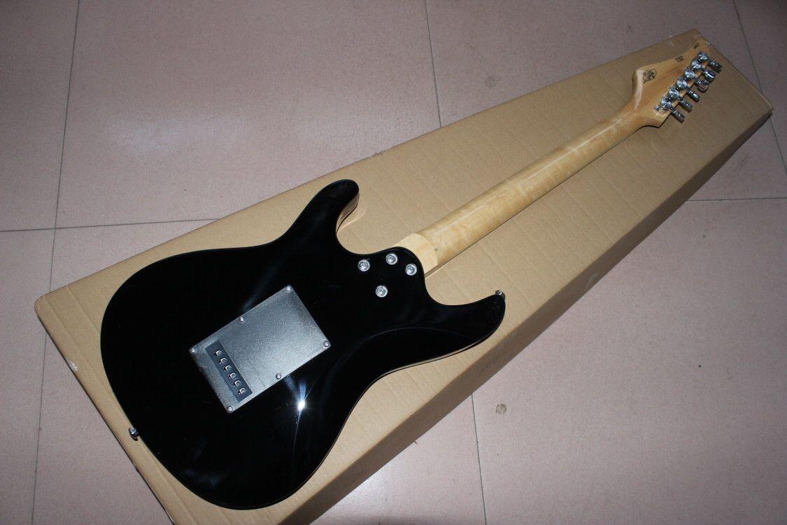custom shop.Blue color tiger flame top electric guitar.rosewood fingerboard.handmade 6 stings guitarra. enlarge