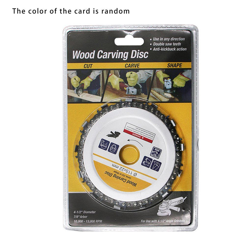 1pc disc for wood carving woodworking chain grinder chain saws cutting disc chain plate tool for angle grinding 5 inch 4 inch 5 Inch Chain Grinder Chain Saws Disc Woodworking Chain Plate Tool 5 Inch Multi-Functional Wood Carving Disc Angle Grinding Tool