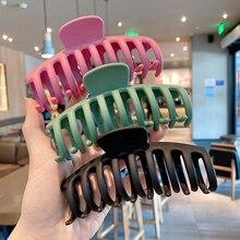 1PC Korean Solid Large Hair Claws Elegant Acrylic Hairpins Barrette Crab Hair Clips Headwear for Wom