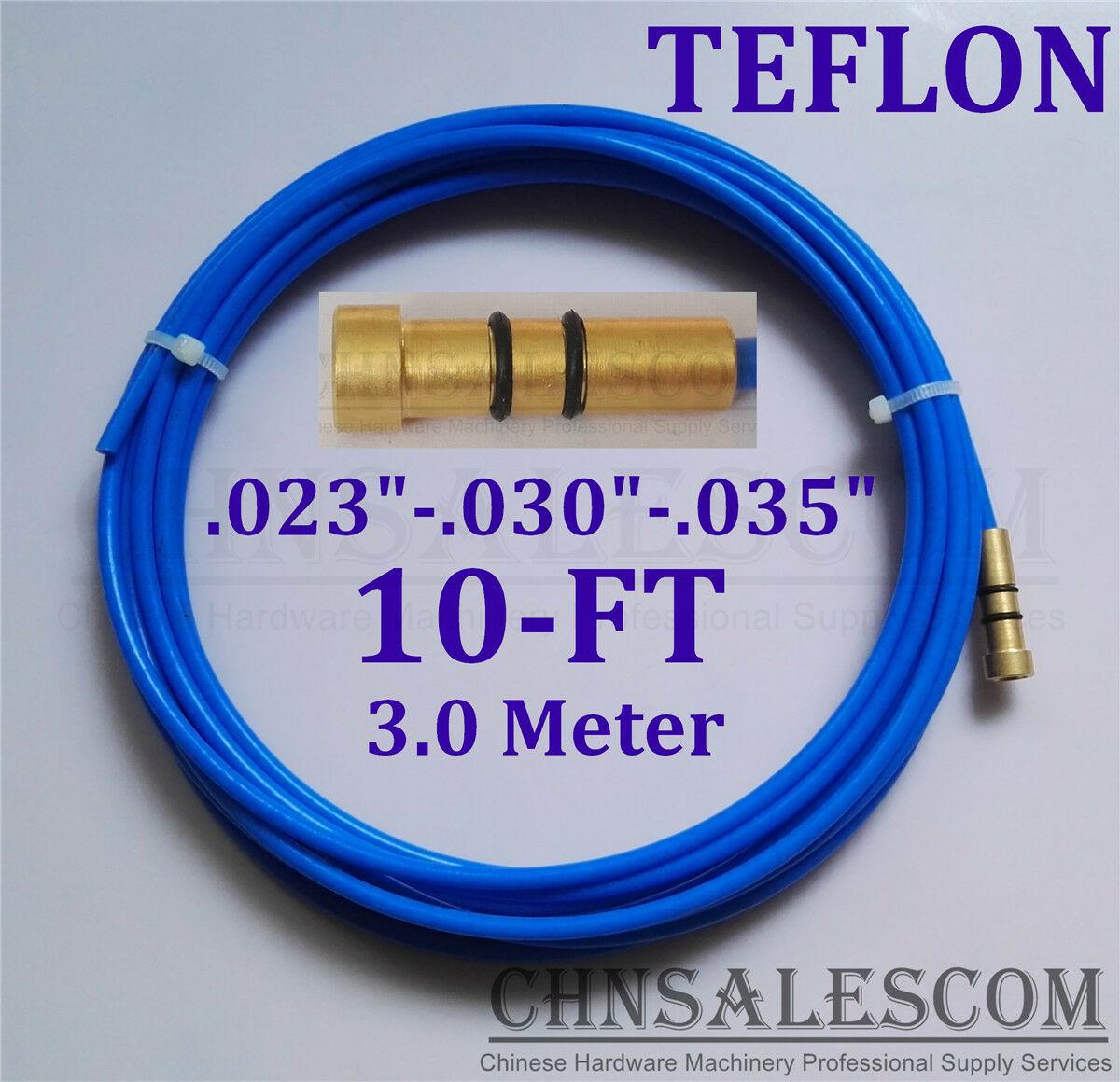 "CHNsalescom PTFE Liner 10-ft MIG Pistolas de soldadura tamaño del cable 0.023 ""-0.030""-0.035 ""Mi TW LI 3,0 M"