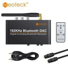 Neoteck 192Khz Bluetooth DAC avec télécommande intégré Bluetooth V5.0 récepteur prise en charge APT-X AAC SBC DAC convertisseur