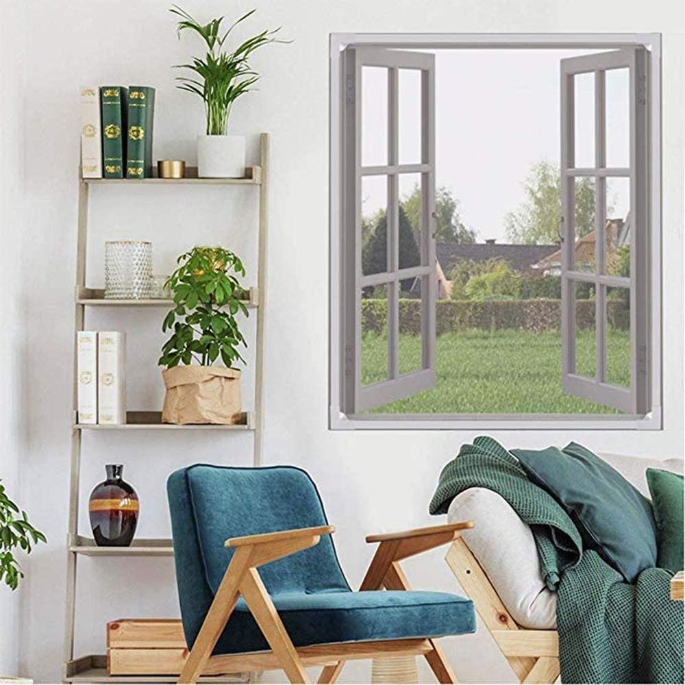 Фото - Подгоняйте дверь окно Анти Москитная сетка для кухни окно вставка окно экран сетка Невидимый анти-москитная репеллент моющийся Подгоняйте ... окно