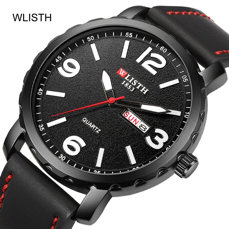 Wlisth brand mens watch часы муржские наручные Мужские кварцевые men watches 2021men quartz wristwatches for