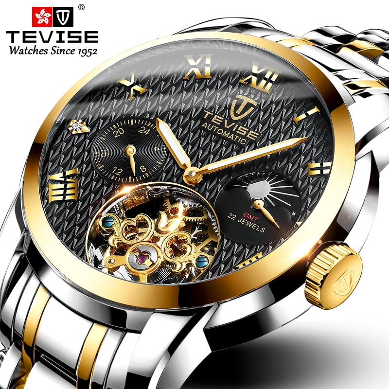 Tevise Mechanical Watch Men Fashion Luxury Men's Automatic Watches Clock Male Business Waterproof Wr
