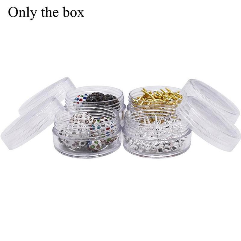 5Pcs Plastic Cosmetic Empty Jar Eyeshadow Case Face Cream Bottles Glitter Container Eye shadow Empty Nail Pots Beauty Tool 5ml