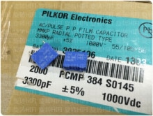 20PCS 새로운 BC PILKOR PCMP384 3300PF 1000V P10MM 블루 필름 커패시터 VISHAY 332/1000V MMKP 3.3NF 3N3 1KV 0.0033 미크로포맷