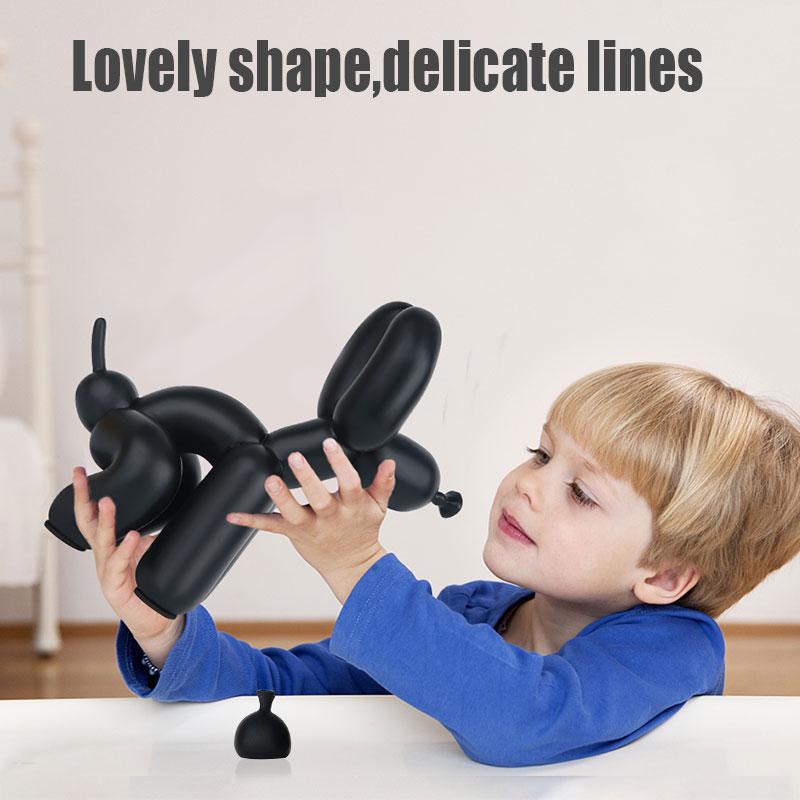 بالون تمثال لكلب الراتنج الفن القلطي الحرفية مجردة الحيوان تمثال ديكور المنزل النحت عيد الحب هدية غرفة الديكور R1730
