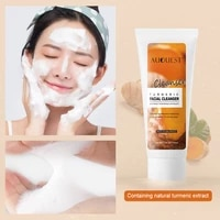 turmeric facial cleanser deep cleansing oil control moisturizing whitening cleanser moisturizing gentle cleansing cream