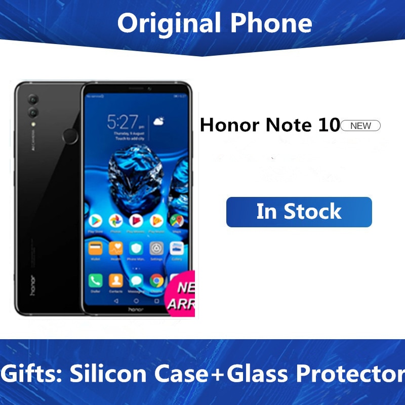"DHL быстрая доставка Honor Note 10 4G LTE мобильный телефон Android 8,1 6,9 ""2220X1080 8 Гб RAM 128 ГБ ROM 24.0MP NFC отпечаток пальца"