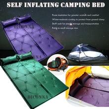 1 sztuk pompowania Camping karimata nadmuchiwana poduszka materac dmuchany łóżko Pad