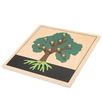 montessori materials wooden tree puzzle wholesale early childhood education preschool training learning for kindergarten toys