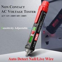 Vehemo LCD Electric Non-Contact Tester LED Light Alert Voltage Digital Detector TASI Test Pen Lashlight