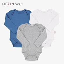 3-pack Baby Rompers infant Solid Boys Girls Long Sleeve Cotton Clothes Summer Soft Toddler Jumpsuits