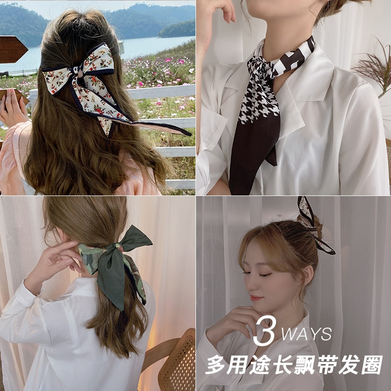Internet Celebrity Ins Mori Style Hair Band Female Bow French Ribbon Headband Hair Accessories Fairy