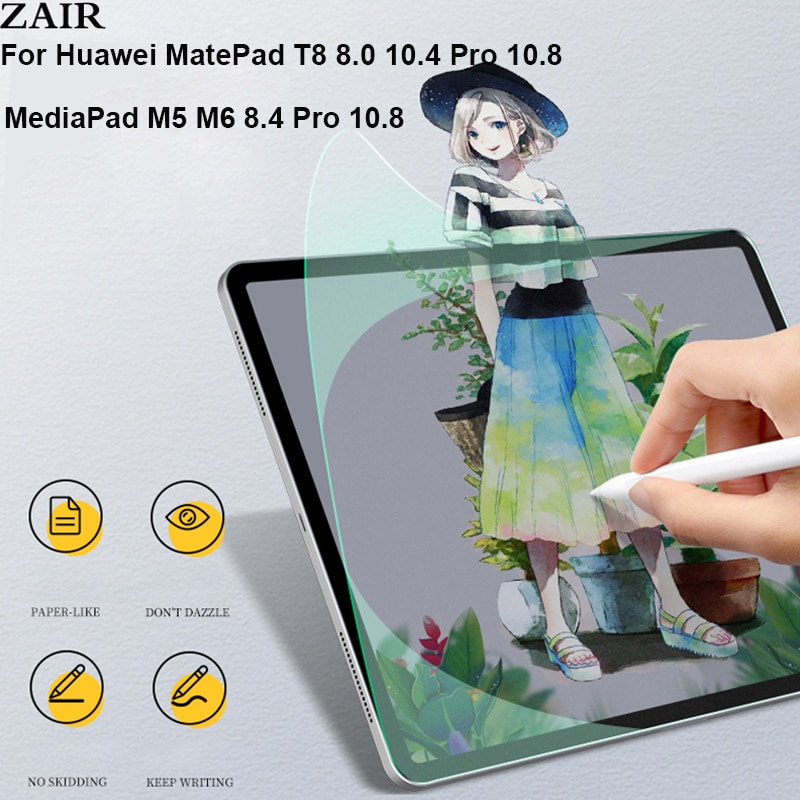Like Writing on Paper Screen Protector For Huawei Matepad T8 8.0 Pro 10.8 10.4 /MediaPad M5 lite 10 M6 Pro 8.4 10.8 Like Paper