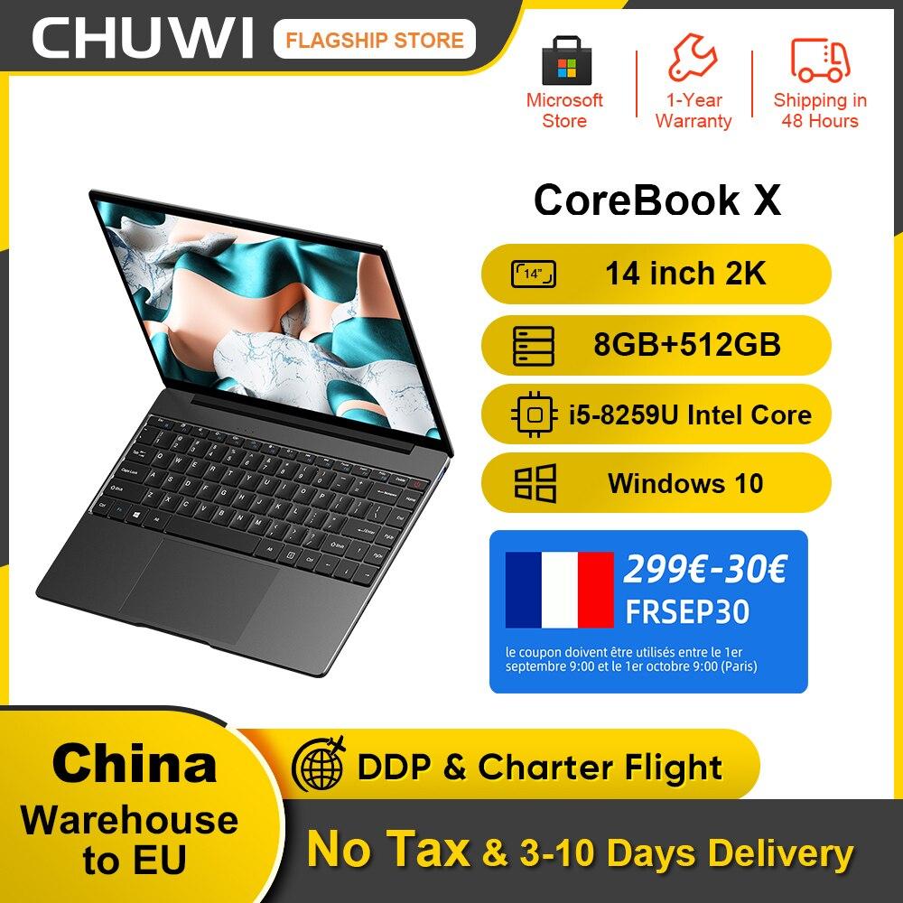 Review CHUWI CoreBook X 14inch Laptop 2160*1440 Resolution Intel Core i5-8259U 4 Cores 8GB RAM 512GB SSD Windows 10 Backlit keyboard